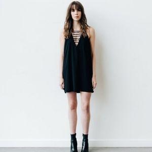 Brunette the Label lace front dress black size S/M